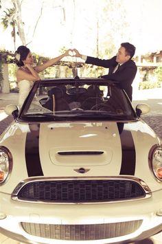 that's a cute wedding photo
