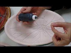Ceramics II Glazing the Platters - YouTube