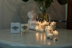 Set the mood with Sarah Horne Candles  Photo by David Morphew