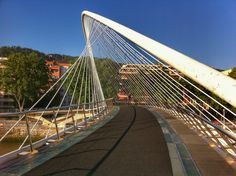 Zubizuri bridge. Bilbao (Spain)