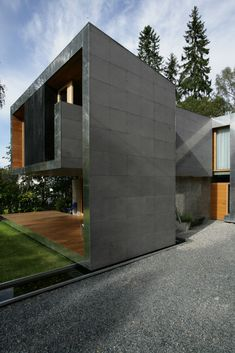Image 1 of 34 from gallery of Single Family House / Knut Hjeltnes. Photograph by Knut Hjeltnes sivilarkitekter Design Exterior, Modern Exterior, Interior And Exterior, Architecture Design, Contemporary Architecture, Modern Staircase, Staircase Design, Spiral Staircases, Casas Containers