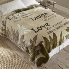 Shavel Home Products Live Laugh Love Throw Blanket - Walmart.com