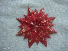 Master-class, modular origami Postcard: Postcard or suspension Paper New Year, Christmas. Photo 8