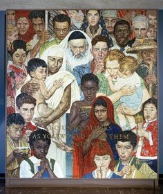 The Golden Rule: Mosaic of Norman Rockwell Painting for the United Nations. 1/Mar/1987. UN Photo/Milton Grant
