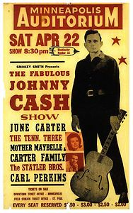 "Johnny Cash / Carl Perkins Tour Poster 16"" x 12"""