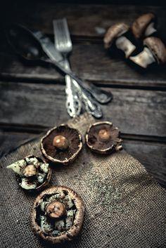 Mushroom, my Dark Food Photography Sample