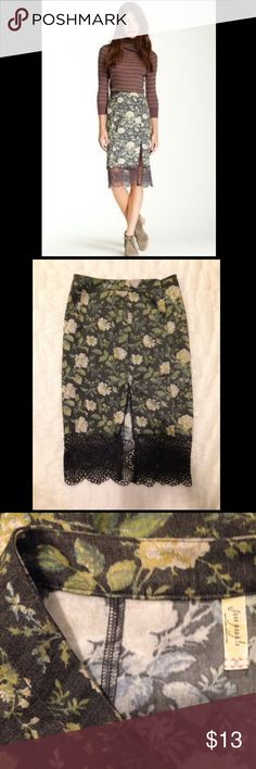 🌈Free People 'Story Teller' Skirt SZ 0 NWOT🌈 FP 'Story Teller' Pencil Skirt with Scalloped Hem & Hidden Zip Closure. SZ 0 NWOT with No Flaws or Defects. Price is Firm, Priced to Sell. Bundle to Save! Thank you for Looking!:) Free People Skirts Pencil