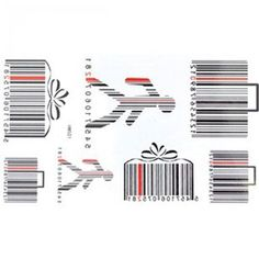 """Tattoo size 6.69""""x3.94"""" temporary tattoo Non-toxic and waterproof male and female models barcode pattern realistic temporary tattoo stickers. Safe and non-toxic design ideal for body art. Professional grade made to last 3 to 5 days and easily transferred by water. Perfect for vacations, girls night, pool parties, bachelorette parties, or any other event you want to look glamorous."""