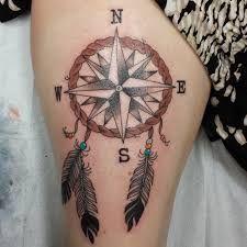 Myndaniðurstaða fyrir dream catcher compass tattoo