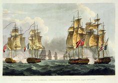 LEOPOLD LE GUEN Naval Combat  Indefatigable and the Frigate Amazon; 1853