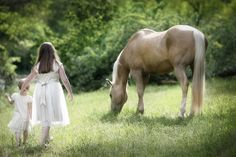 Private photo session for a family who owned this particular horse seen in the photo.  The two little girls are sisters in the family and this image was one of several that I love in this session.