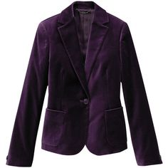 Velvet Jacket (4.005 RUB) ❤ liked on Polyvore featuring outerwear, jackets, blazers, tops, uniqlo, uniqlo jacket, velvet jacket, purple velvet jacket e purple jacket
