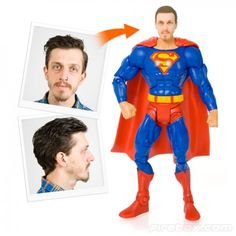 Creepy? You can put your head on a super hero for $125. Would you do this?