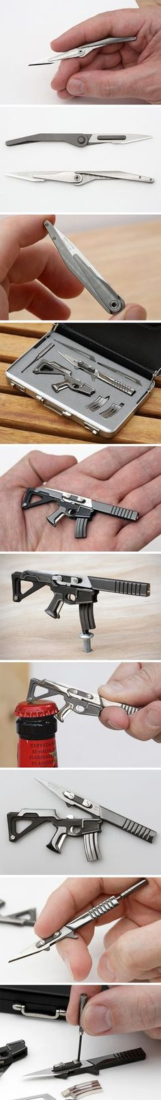 The World's Tiniest Multitool Packs a Punch! Edc Gadgets, Cool Gadgets, Cool Knives, Knives And Swords, E Mc2, Survival Tools, Edc Tools, Things To Buy, Stuff To Buy