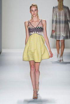 Chiffon/Brocade dress. Timo Weiland S/S 2013 #NYFW