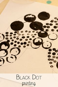 dot day art projects Black Dot Printing, creative art project for mixed age groups of children creating pictures created with black dots similar to old style newsprint Art For Kids, Crafts For Kids, Arts And Crafts, Daycare Themes, Marker Crafts, Dot Day, Homemade Art, Preschool Art, Preschool Learning