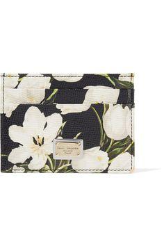 Dolce & Gabbana   Printed textured-leather cardholder   NET-A-PORTER.COM