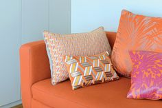Think pink (and orange) this summer with designer looks from Lelievre! www.kenisahome.com