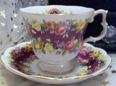 $20.00 + Shipping This Royal Albert bone china tea cup and saucer is absolutely beautiful in it's bright vibrant color, clarity, and perfect condition. This tea cup set has been a family heirloom for four generations, making it well over 50 years old. No chips, cra...