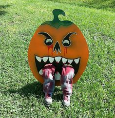 Zombie Pumpkin - Outdoor Halloween Yard Decoration  https://www.etsy.com/listing/206034221/zombie-pumpkin-outdoor-halloween-yard?ref=listing-shop-header-2