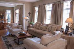 I like the soft hues in this room    Gary + Gayle: Cincinnati, Ohio traditional living room