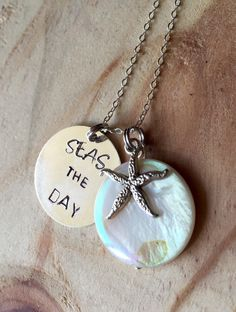 A personal favorite from my Etsy shop https://www.etsy.com/listing/253967706/hand-stamped-seas-the-day-necklace