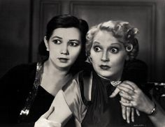 This is a film still from the 1935 short, Hot Money, featuring the comedic duo Patsy Kelly (dark hair) and Thelma Todd (Blonde). Old Hollywood Stars, Hooray For Hollywood, Old Hollywood Glamour, Golden Age Of Hollywood, Vintage Hollywood, Classic Hollywood, Hollywood Heroines, Hollywood Actresses, Actors & Actresses
