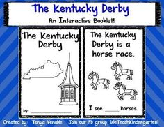 This Kentucky Derby Interactive Booklet is perfect for your Kentucky Derby Theme! It incorporates familiar sight words, Ky Themed vocabulary words and is also a fun way to learn about The Kentucky Derby!