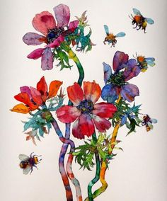 Sofia Perina-Miller - Anemonies & Bees