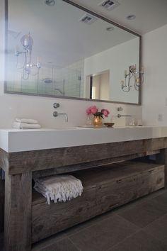 Eric Olsen Design - bathrooms - salvaged wood
