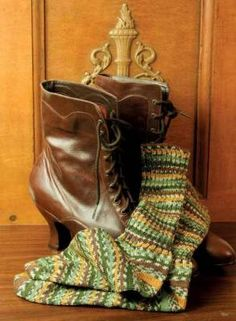 Fair Isle Virgin Wool Socks & Victorian Boots- LOVE LOVE!!!