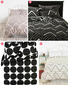 Pattern pop! Bedding roundup. More style bedding here www.colorfulmart.com