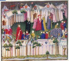 A Commonplace Book: Two Elaborate Encampments, c. 1404, Thomas de Saluces