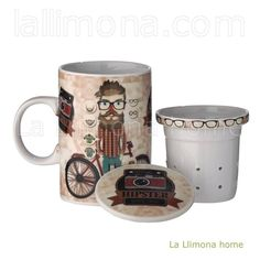 Taza infusiones mensaje Hipster cool since 1950
