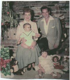 Christmas, c.1953....Lucy...Desi...