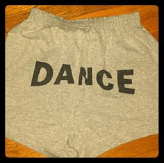 Soffe Gray Dance Shorts Plain gray on front, blank printed dance on back Soffe Shorts