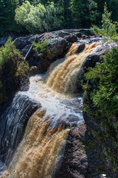 My own photo of the waterfalls of Ironwood Michigan.