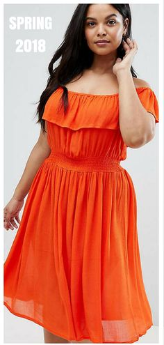 c71bb8b635b Brave Soul Plus Petal Midi Dress with Frill Bardot  plussize plussizefashionforwomen plusisequal  No