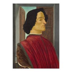 #Portrait of Giuliano de #Medici by #Botticelli Personalized #Announcement