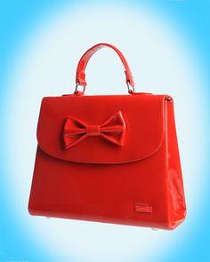 Medium Kelly Bag in Red Patent
