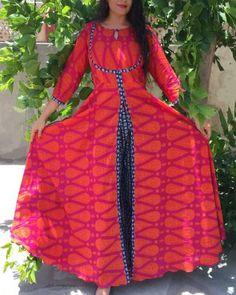 Latest Front Open Double Shirt Dresses Designs Collection Trends consists of front open frocks, double shirt gowns, angrakha double shirts etc. Anarkali Dress, Pakistani Dresses, Indian Dresses, Indian Outfits, Gown Dress, Lehenga, Kurta Designs, Saree Blouse Designs, Dress Designs