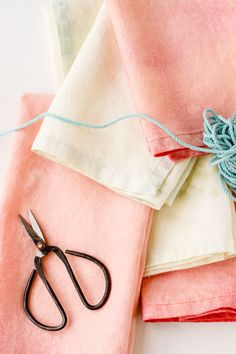 Give old linen napkins new life with this DIY bleaching technique.