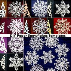""""""" 27 DIY Paper Snowflakes Templates Paper snowflakes are one of the best ways to decorate your home during the holiday season. But the true question is do you have all the templates you need..."""