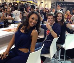 Grant Gustin, Danielle Panabaker and Candice Patton #TheFlash #SDCC