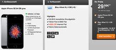 Apple iPhone SE (64GB) für 29,99€ + 4GB LTE Blau Allnet XL für 24,99€ http://www.simdealz.de/o2/blau-allnet-xl-mit-iphone-se/