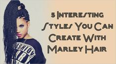 5 Interesting Styles You Can Create With Marley Hair  Read the article here - http://www.blackhairinformation.com/general-articles/hairstyles-general-articles/5-interesting-styles-can-create-marley-hair/ #marleyhair #Naturalhairstyles