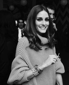 Olivia Palermo chunky knit chic