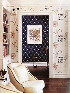 like the pattern accent wall!