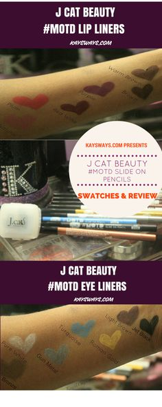 J Cat Beauty #MOTD Slide on Pencils for Eyes & Lips Swatches & Review Lipstick   Lipgloss   Ombre Lips   Lipliners   Lips Eyeshadow   Palette   Cut Crease