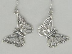 SHABLOOL ISRAEL Didae Handcrafted Butterfly Sterling Silver 925 Earrings